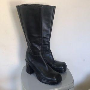 Steve Madden lerke black boot leather